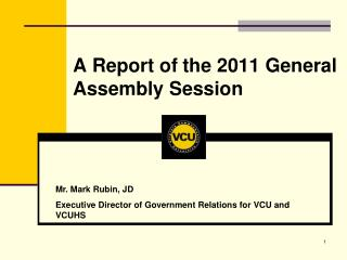 A Report of the 2011 General Assembly Session