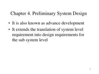 Chapter 4. Preliminary System Design