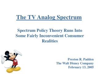 The TV Analog Spectrum
