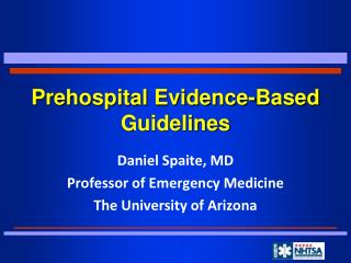 Prehospital Evidence-Based Guidelines