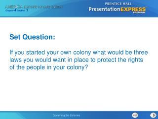 Set Question: