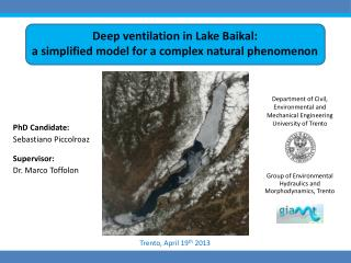 Deep ventilation in Lake Baikal:  a simplified  model for a complex natural phenomenon