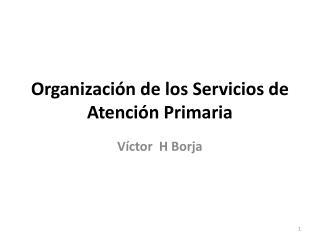 Organización de los Servicios de Atención Primaria