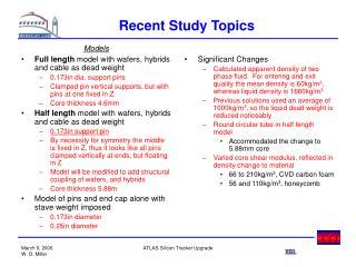 Recent Study Topics