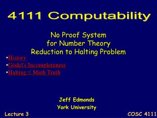 No Proof System  for Number Theory Reduction to Halting Problem