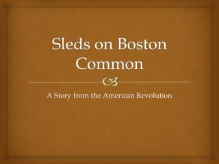 Sleds on Boston Common