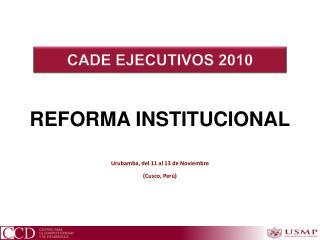 REFORMA INSTITUCIONAL