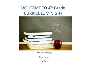 WELCOME TO  4 th Grade CURRICULUM NIGHT