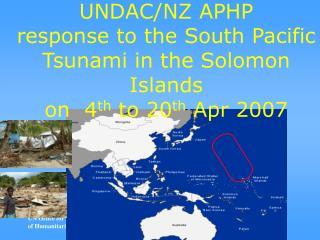 UNDAC/NZ APHP