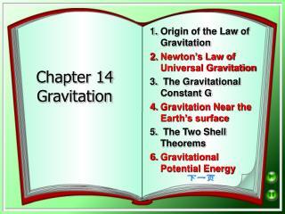 Chapter 14 Gravitation