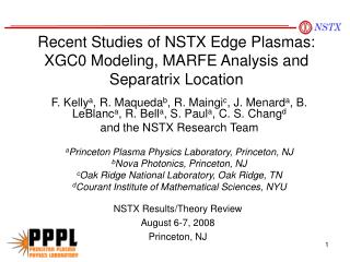 Recent Studies of NSTX Edge Plasmas: XGC0 Modeling, MARFE Analysis and Separatrix Location