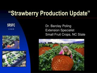 """""""Strawberry Production Update"""""""