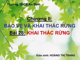 Trường THCS An Bình
