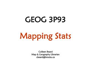 GEOG 3P93