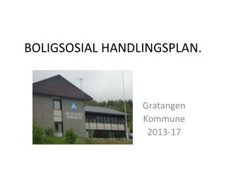 BOLIGSOSIAL HANDLINGSPLAN.