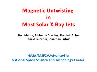 Magnetic Untwisting  i n Most Solar X-Ray Jets