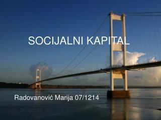 SOCIJALNI KAPITAL