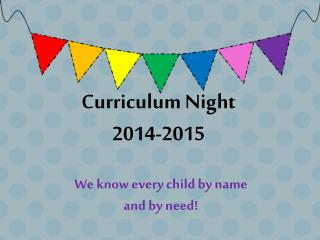 Curriculum Night 2014-2015