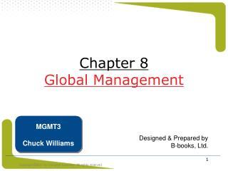 Chapter 8 Global Management