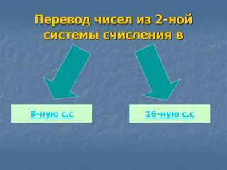 Перевод чисел из 2-ной системы счисления в