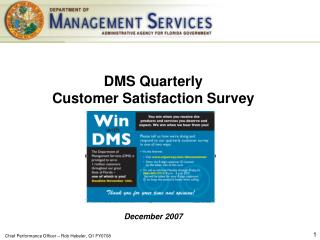 DMS Quarterly  Customer Satisfaction Survey