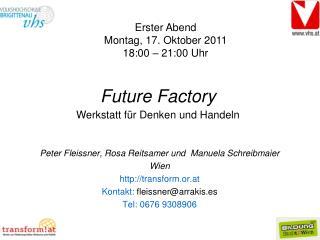 Peter Fleissner, Rosa Reitsamer und Manuela Schreibmaier  Wien transform.or.at