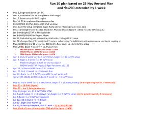 Run 10 plan based on 25 Nov Revised Plan and  s=200 extended by 1 week