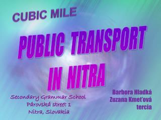 PUBLIC  TRANSPORT     IN  NITRA
