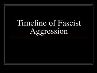 Timeline of Fascist Aggression