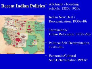 Recent Indian Policies