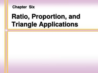 Ratio, Proportion, and Triangle Applications
