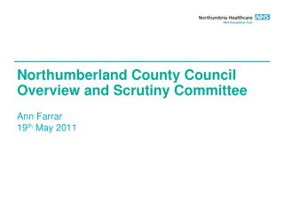 Northumberland County Council Overview and Scrutiny Committee