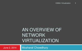 An Overview of Network Virtualization