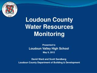 Loudoun County   Water Resources Monitoring