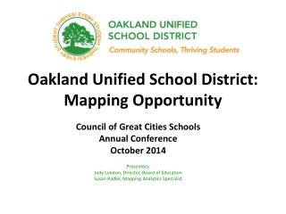 Oakland Unified School District: Mapping Opportunity