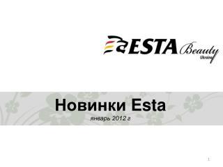 Новинки  Esta январь 201 2  г
