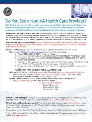 Do You See a Non-VA Health Care Provider?