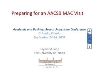 Preparing for an AACSB MAC Visit