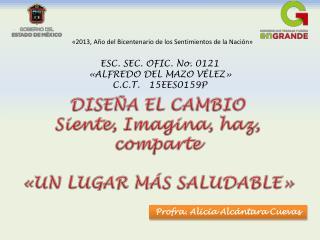 «2013, Año del Bicentenario de los Sentimientos de la Nación»