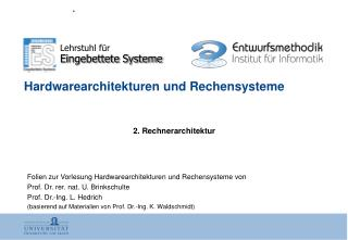 Hardwarearchitekturen und Rechensysteme