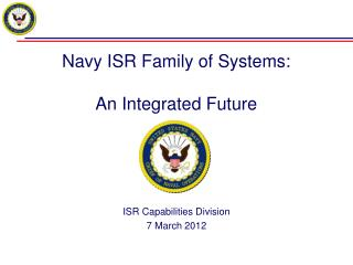 Navy ISR Family of Systems:  An Integrated Future