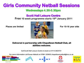 Girls Community Netball Sessions