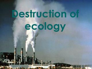 Destruction of ecology