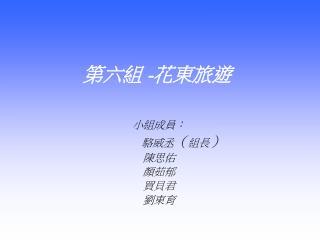 第六組  - 花東旅遊