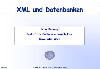 XML und Datenbanken