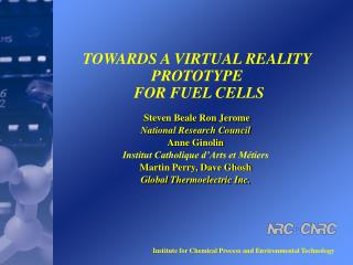 TOWARDS A VIRTUAL REALITY PROTOTYPE  FOR FUEL CELLS