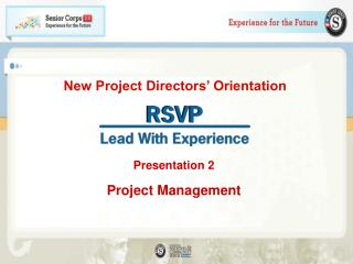 New Project Directors� Orientation