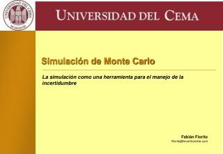Simulación de Monte Carlo