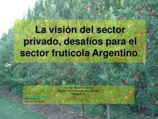 La visión del sector privado, desafíos para el sector frutícola Argentino .