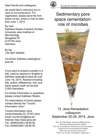 13. Jena Remediation colloquium September 25-26, 2014, Jena